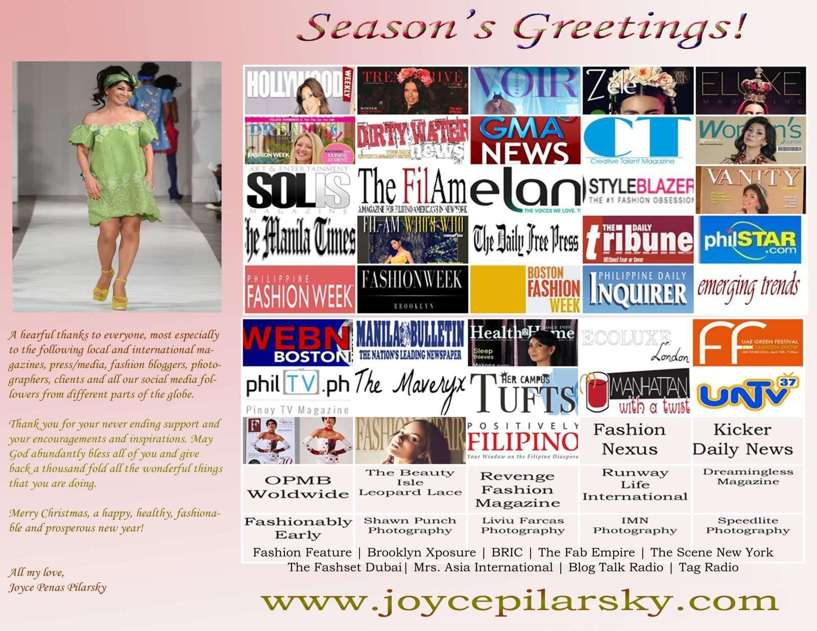 Holiday Greetings from Joyce Penas Pilarsky